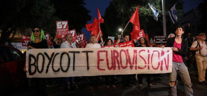 'İsrail'deki Eurovision yarışmasında Filistin bayrağı açan Hatari grubu ceza alabilir'