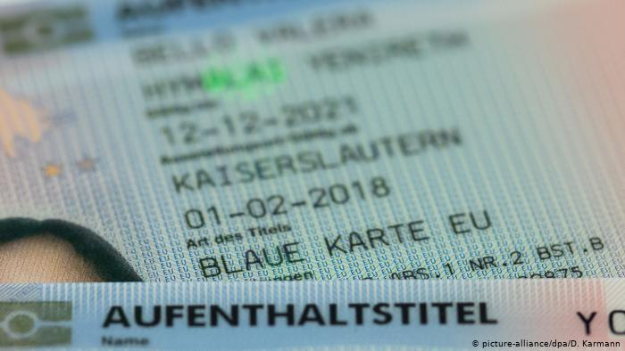 Almanya'da geçen yıl binden fazla Türk vatandaşı Mavi Kart aldı