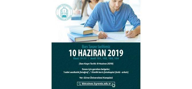 Girne Üniversitesi 2019 Burs Sıralama Sınavı 10 Haziran'da Yapılacak