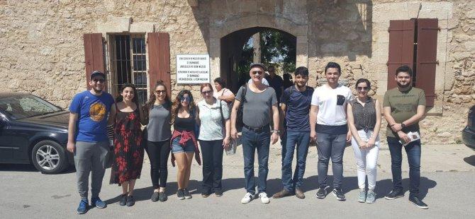 YDÜ Fen-Edebiyat Fakültesi Tarih Bölümü Gazimağusa bölgesine araştırma ve inceleme gezisi gerçekleştirdi
