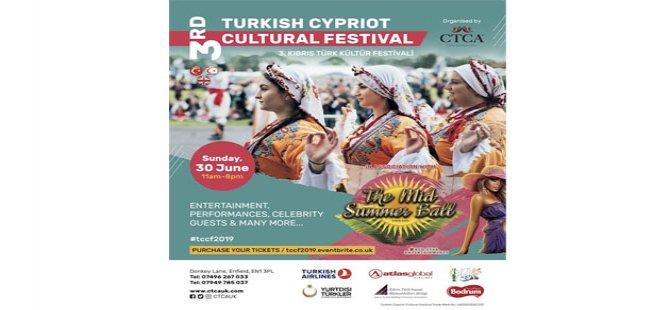 Londra'da Kıbrıs Türk Kültür Festivali'nin üçüncüsü 30 Haziran'da yapılacak