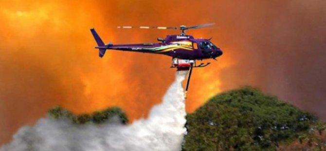 Güney Kıbrıs'ta yangınlar için üçüncü helikopter kiralanıyor, KKTC'de ise bekleyiş sürüyor