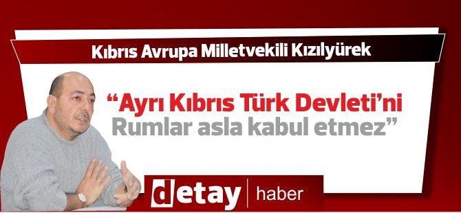 """Kızılyürek: """"Ayrı Kıbrıs Türk Devleti'ni Rumlar asla kabul etmez"""""""