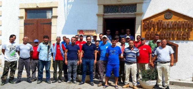 Devrimci Genel İş Büyükkonuk Belediyesi'nde 3 saatlik uyarı grevi yaptı