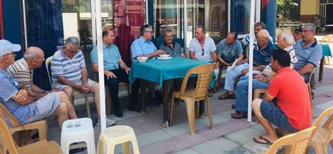 Akıncı, Yeni Boğaziçi'nde yurttaşlarla sohbet etti
