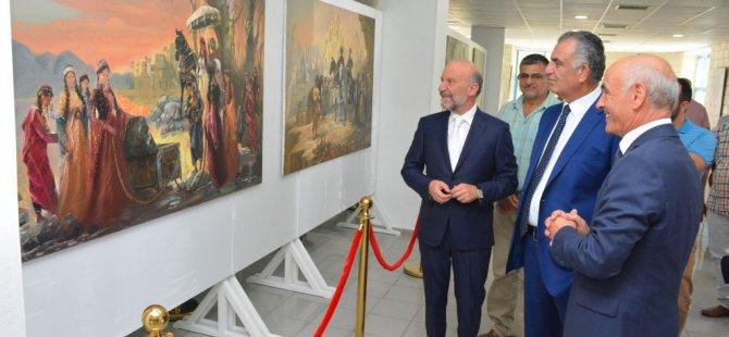 Türkmenistanlı sanatçıların resim sergileri Milli Eğitim ve Kültür Bakanı Nazım Çavuşoğlu tarafından açıldı