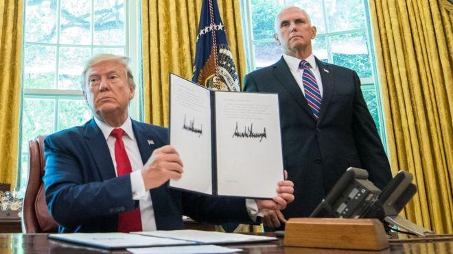 Trump'dan İran'a uyarı: Amerikan herhangi bir şeye saldırı, büyük ve ezici güçle karşılanacak