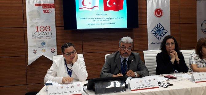 DAÜ ATAUM Başkanı Yrd. Doç. Dr. Göktürk, Samsun'da Uluslararası Milli Mücadele Sempozyumu'na katıldı.