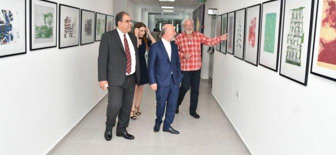 Volodymir Chornobay ve Orazbek Yessenbayev'in kişisel resim sergileri Faiz Sucuoğlu tarafından açıldı