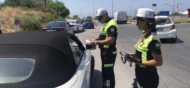 """Polis, """"Trafik Seferberliği"""" kapsamında Girne'de denetimler yaptı"""