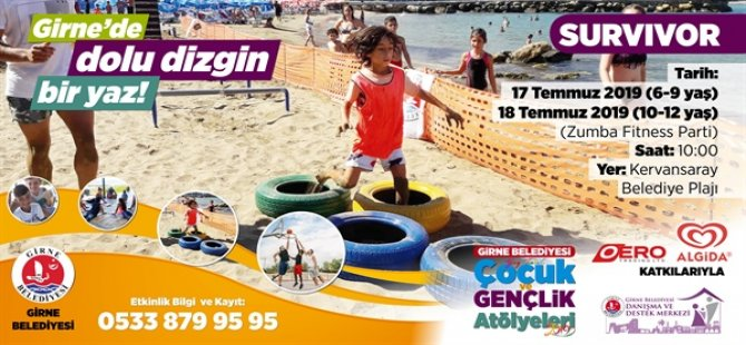 Kervansaray Plajı'nda çocuklar için plaj turnuvası düzenleniyor