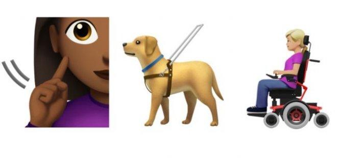 Engelli bireyleri temsil eden yeni emojiler geliyor: Rehber köpek, tekerlekli sandalye, işaret dili