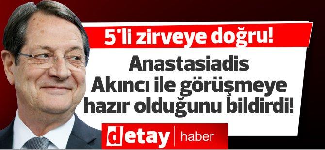 Anastasiadis, Cumhurbaşkanı Akıncı'yla görüşmeye hazır olduğunu bildirdi