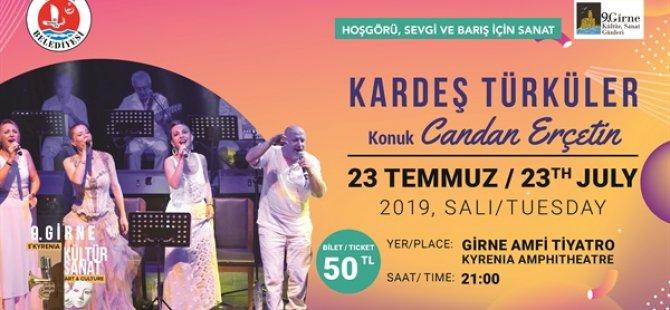 Candan Erçetin ve Kardeş Türküler yarın Girne Amfi Tiyatro'da konser verecek