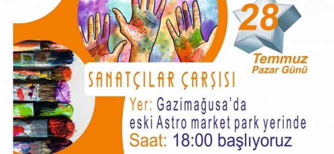 Mağusa'da Sanatçılar Çarşısı pazar günü açılıyor
