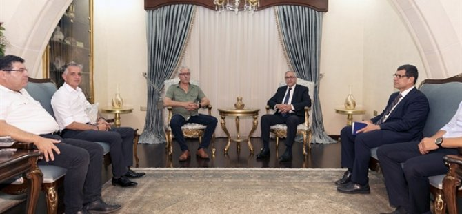 Cumhurbaşkanı Akıncı El-Sen yetkililerini kabul etti