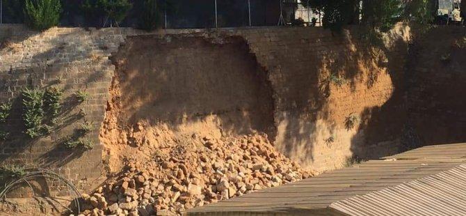 Lefkoşa'da Silihtar Burcu'nda çökme yaşandı