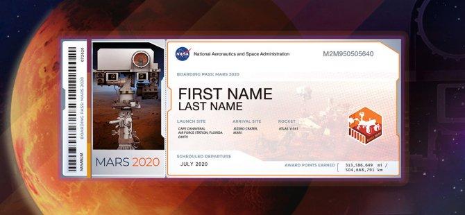 İsmini Mars'a Gönderen 8 Milyon Kişinin 2,5 Milyonu Türk