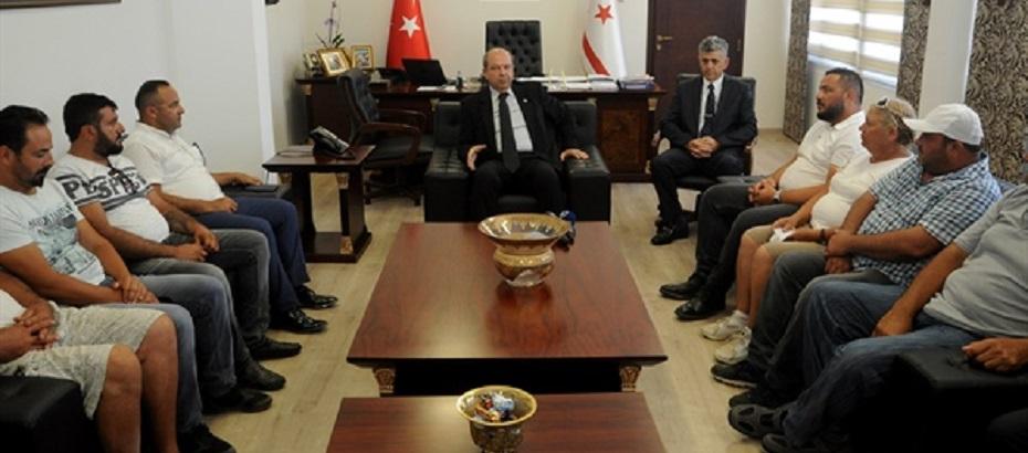 Başbakan Tatar, Yenierenköy Belediye Başkanı Emrah Yeşilırmak'ı kabul etti