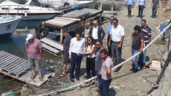 Oğuz, Yedidalga'daki Şehit Salih Hüseyin askeri limanında incelemelerde bulundu.