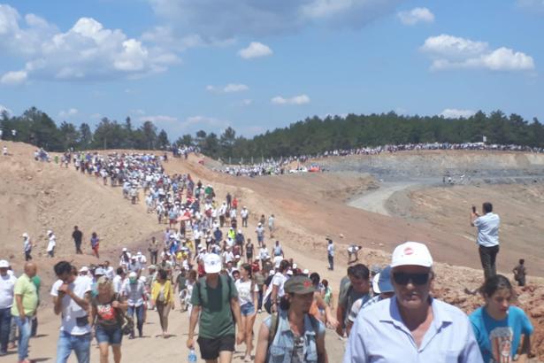 Kaz Dağları'nda yurttaşlar maden alanına girdi