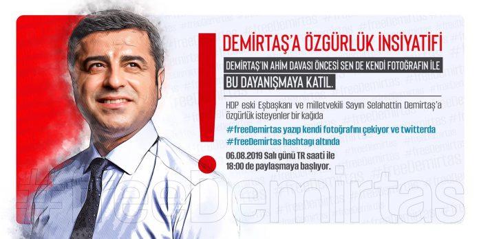 Demirtaş'a özgürlük kampanyası başlatıldı #FreeDemirtas