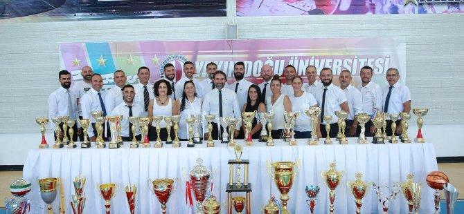 Yakın Doğu Üniversitesi 2018-2019 sezonunda 73 şampiyonluk elde etti