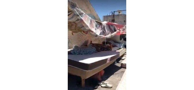 Girne'de bir apartmanın damında yaşayanlara müdahale edildi