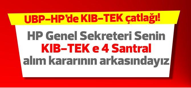 HP Genel Sekreteri Kıb-TEK'e 4 santral alınması kararının arkasındayız