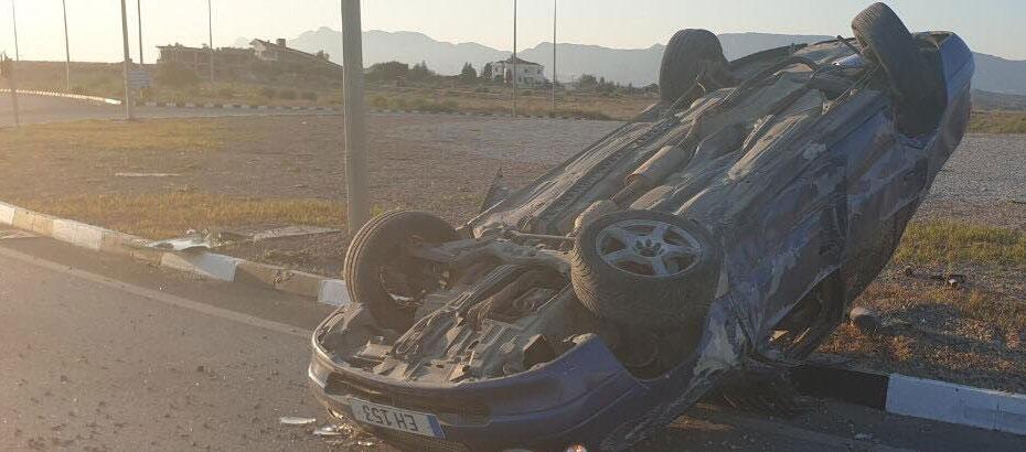 Alayköy çemberindeki trafik kazası korkuttu
