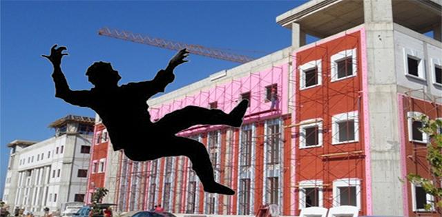 Lefkoşa'da da bir kişi yüksekten düşerek hafif yaralandı