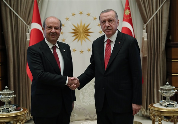 Erdoğan Tatar'ı kabul etti, görüşme Ankara'da Külliye'de gerçekleşti