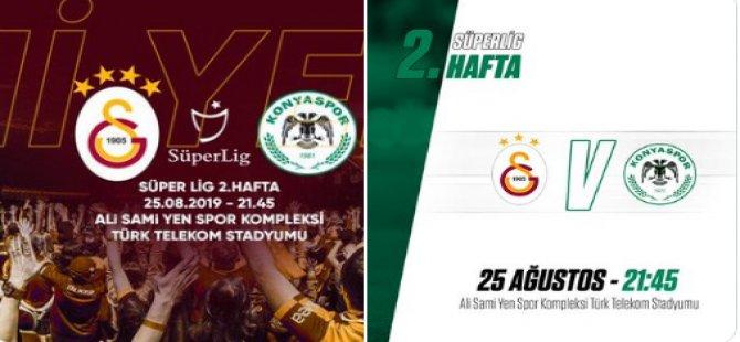 """Konyaspor'dan Galatasaray'a  """"3 yıldızlı"""" cevap"""