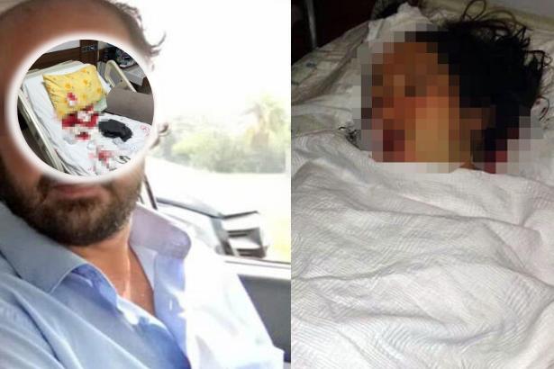 Yeni doğum yapmış eşini hastanede bıçakladı