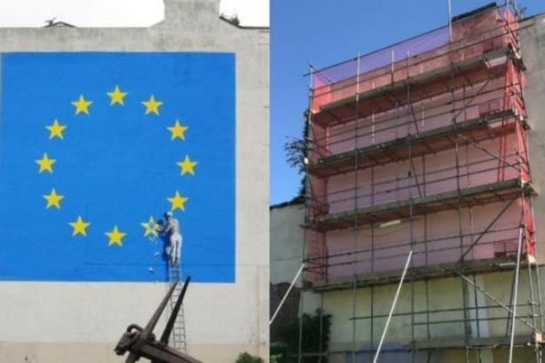 Banksy'nin 'Brexit' resmi ortadan kayboldu