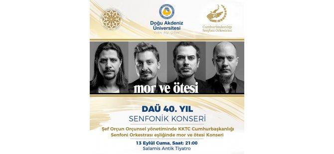 """""""DAÜ 40. Yıl Senfonik Konseri""""ne yoğun ilgi"""