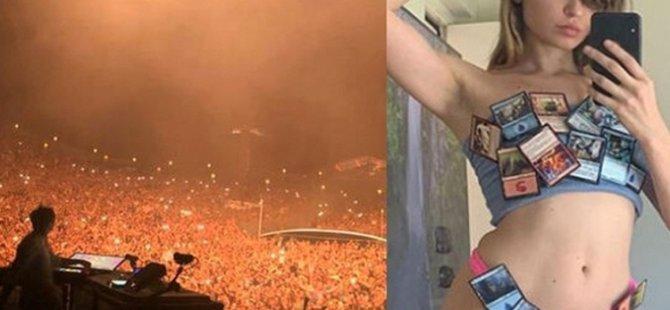 Ünlü DJ onbinlerce kişinin katıldığı festivalde sahnede cinsel ilişkiye girdi