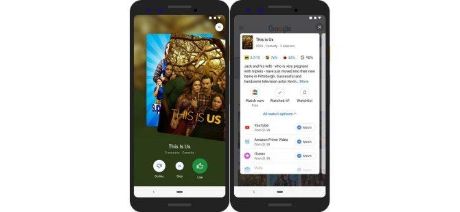 Google'dan yeni servis: Dizi ve film önerisi