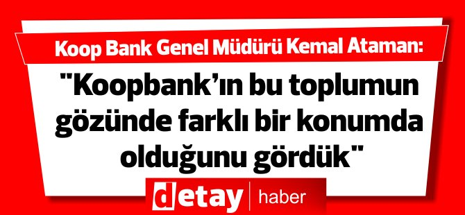 Koop Bank Müdürü'nden Hadise açıklaması