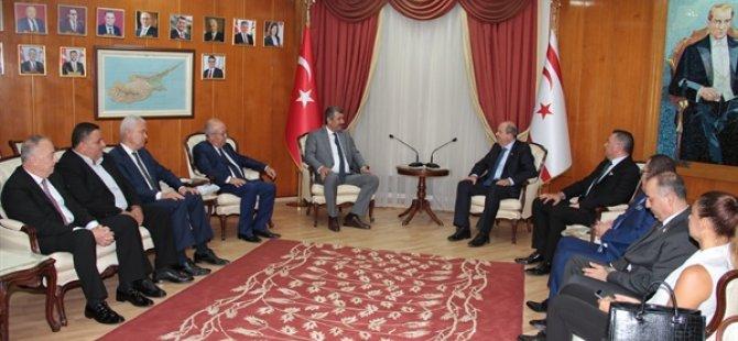 Tatar, Anamur Belediyesi ile Anamur Ticaret ve Sanayi Odası yetkililerini kabul etti
