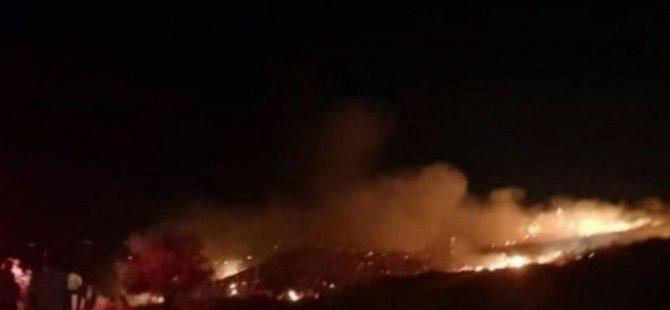 Çatalköy'deki patlama sonrasında dronla havadan durum tespiti yapılıyor