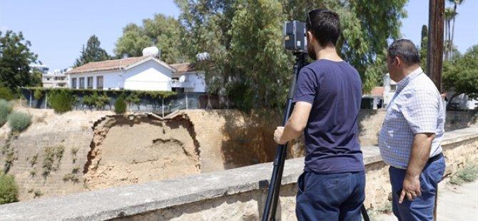 Lefkoşa'da yıkılan surlar tamir ediliyor