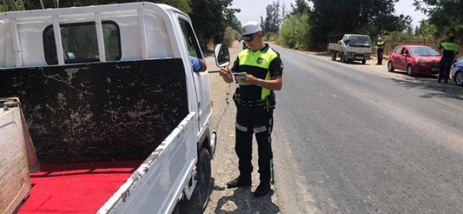 Trafik denetimleri: Bin 191 sürücüye ceza
