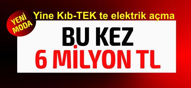 Bu kez 6 Milyon TL elektrik borcu olan şirkete elektrik bağladılar!