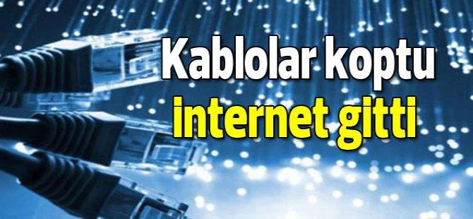 Fiber bağlantılar koptu, adanın kuzeyinde internet gitti