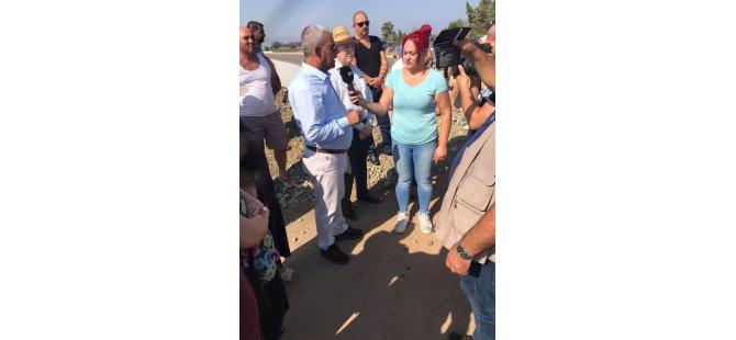 """Doğancı halkı """"yeni yolun açılması"""" talebiyle eylem yaptı"""
