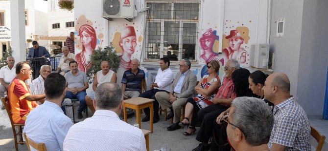 Akıncı Arapköy ve Çatalköy'ü ziyaret etti.. Tatar'ı eleştirdi...