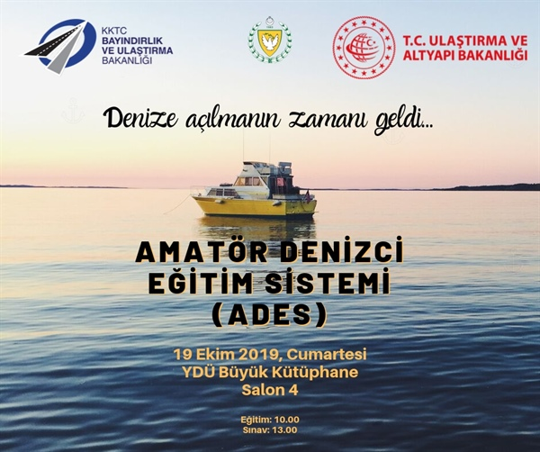 Amatör Denizci Eğitim ve Sistemi ile ilgili eğitim ve sınavın ikincisi 19 Ekim'de yapılacak.