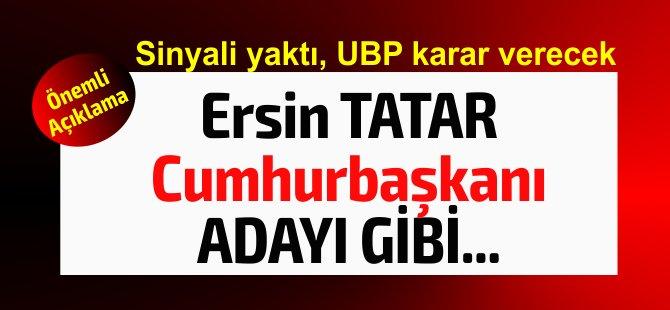 Tatar Cumhurbaşkanı adayı gibi... Sinyali yaktı... Ersin Tatar: UBP en büyük ve en köklü parti.