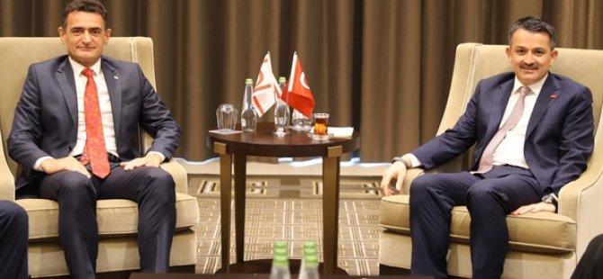 Tarım Bakanı Oğuz, TC Tarım Bakanı Pakdemirli ile görüştü
